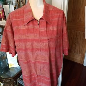 Patagonia Zip Front Geographic Print Shirt Sz.L